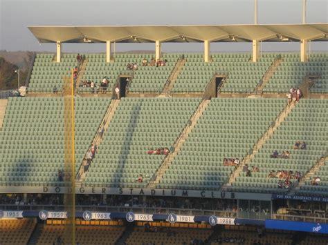 dodger stadium  reserve  rateyourseatscom