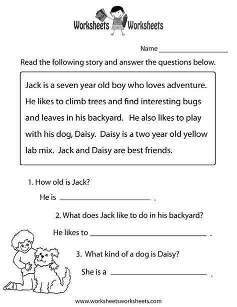 reading comprehension test uk reading comprehension practice worksheet printable