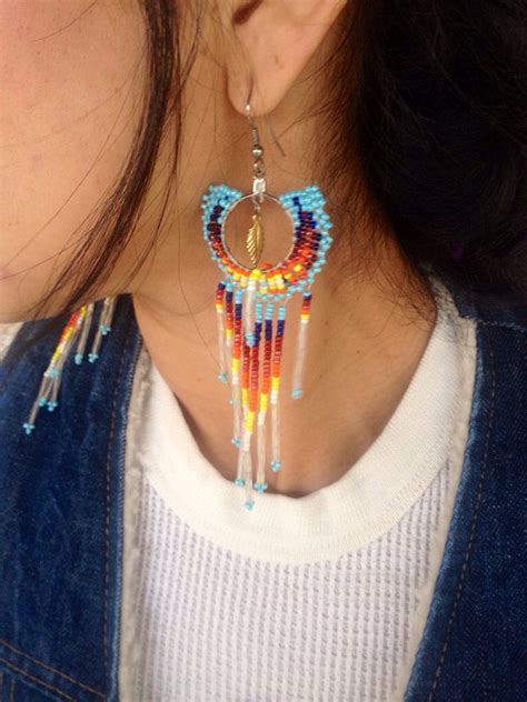 Aboriginal Handmade Jewellery - handmade beaded american earrings