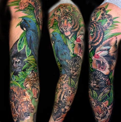 jungle sleeve tattoo 17 best images about animal sleeve on giraffe