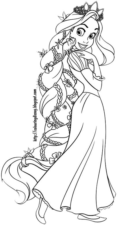 free rapunzel colorear coloring pages