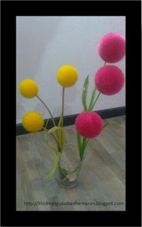 Bunga Meja Bulat simple aje hantaran tutorial 007 gubahan bunga bulat