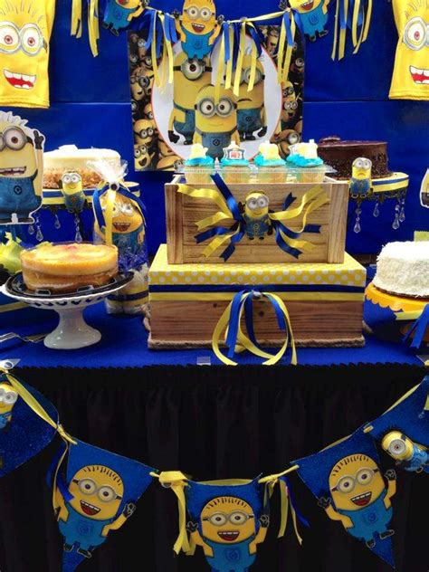 Minion Baby Shower Decorations by Minions Baby Shower Ideas Photo 2 Of 12 Catch