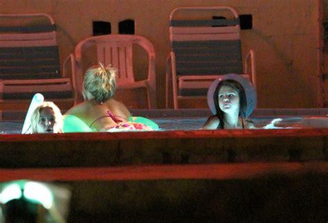 film on hot tub water vanessa hudgens and ashley benson photos photos vanessa