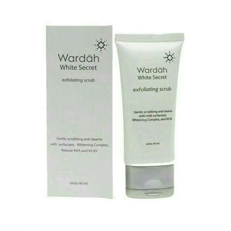 Scrub Wardah jual beli diskon wardah white secret exfoliating scrub