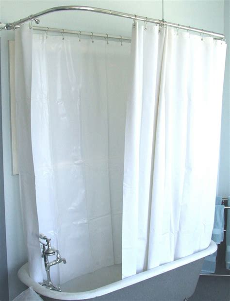 extra wide shower curtain rod extra wide shower curtain for a clawfoot tub white less