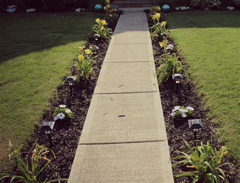 diy sidewalk garden in 6 simple step sidewalk gardens and yards