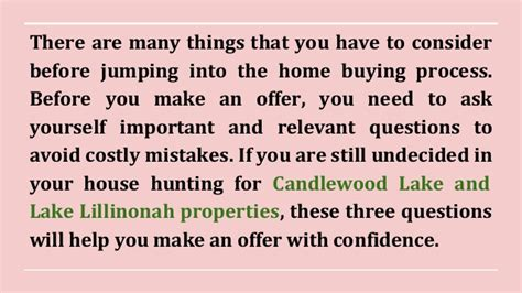 Things To Ask Yourself Before Buying Anything by Top 3 Questions To Ask Before An Offer On A
