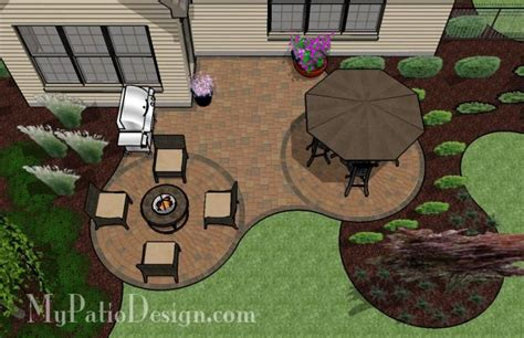 Patio L by Curved Patio For L Shaped Home Paths And Patios