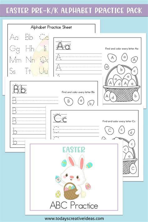 easter alphabet practice worksheets teacher resources