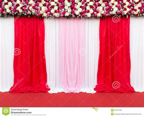 Wedding Pictures To Take by Wedding Stage Decoration For Take Picture Stock Photo