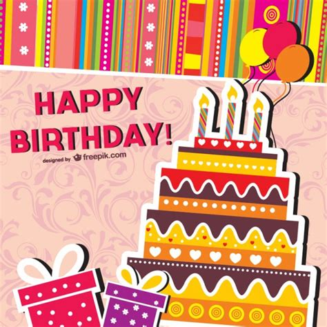 birthday card template design vector free download cartoon birthday cards vector vector free download