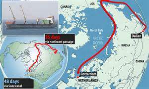 shipping by boat from china to us climate change shortcut chinese cargo ship attempts to