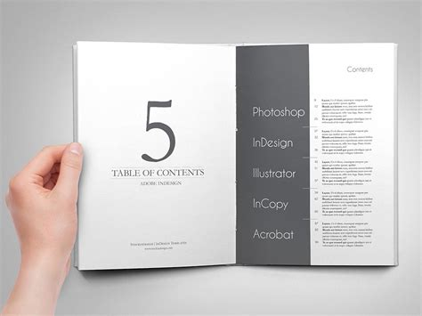 table of contents template indesign 5 amazing table of contents for adobe indesign stockindesign