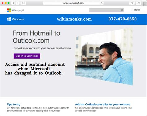 how to access my hotmail account wikiamonks