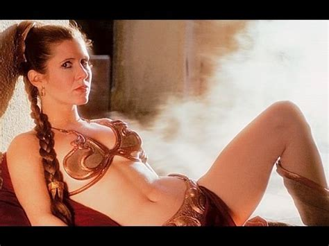 celeb sexystar look alike what carrie fisher thinks of banning princess leia s slave