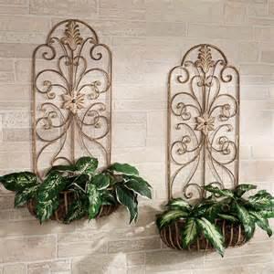 carrolton indoor outdoor metal wall planter set