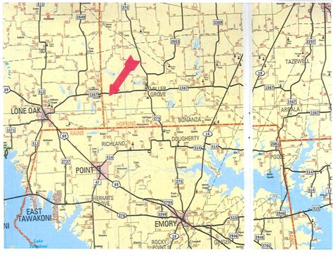 texas road map with county lines 89 3 acres in county texas
