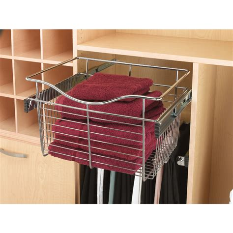 Shelf Pull Out Basket by Shop Rev A Shelf 2 Chrome Pull Out Baskets At Lowes
