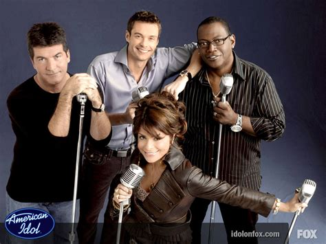 Might Replace Paula Abdul On American Idol by American Idol Judges Simon Cowell Paula Abdul And Randy