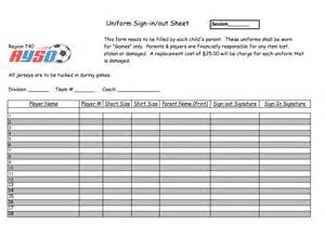 equipment sign out sheet template search results for inventory sign out sheet template