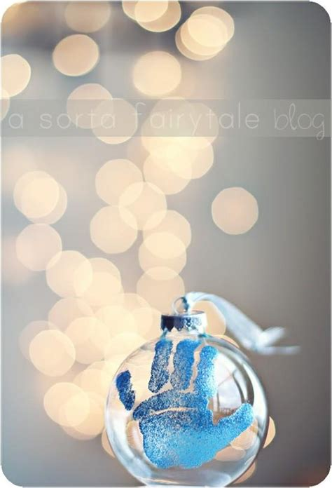 diy baby s first christmas ornament holiday christmas
