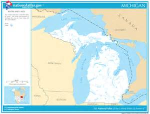 Michigan Lakes Map by Michigan State Maps Interactive Michigan State Road Maps