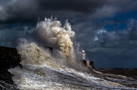 sea storm lighthouse water nature coast wallpapers hd