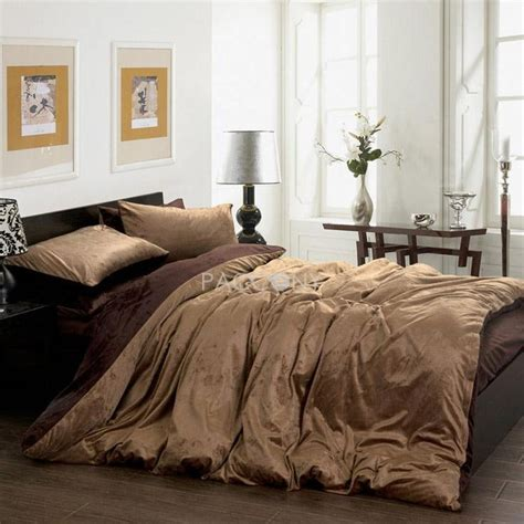 pin by ming liu on solid brown coffee velvet 4 piece