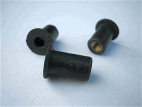 Metric Threaded Rubber Bumpers by Metric M5 8 Well Nuts Rubber Fasteners