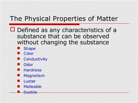 physical matter definition notes gb lab 01 physical properties of matter