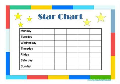 printable star behavior chart star charts for kids