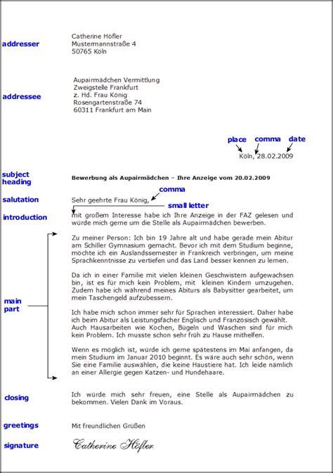 Offizieller Brief Adresskopf Toms Deutschseite Schreiben Formeller Brief