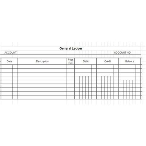 12 Excel General Ledger Templates Excel Templates Accounting Journal Template