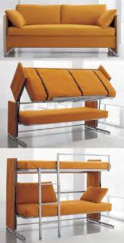 Futon That Turns Into A Bunk Bed Transfurniture Turns Into Bunk Bed Geekologie