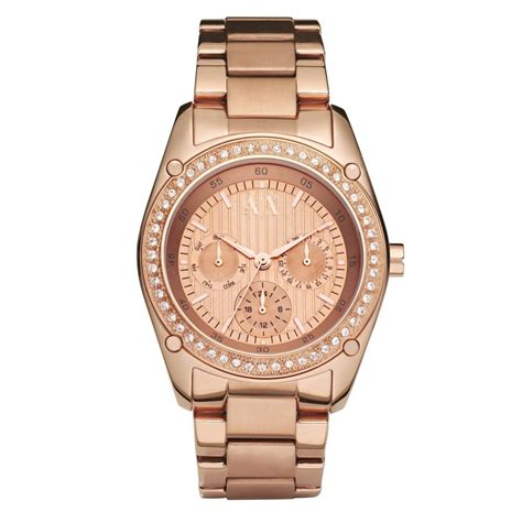 gold armani exchange ax5042 chronograph