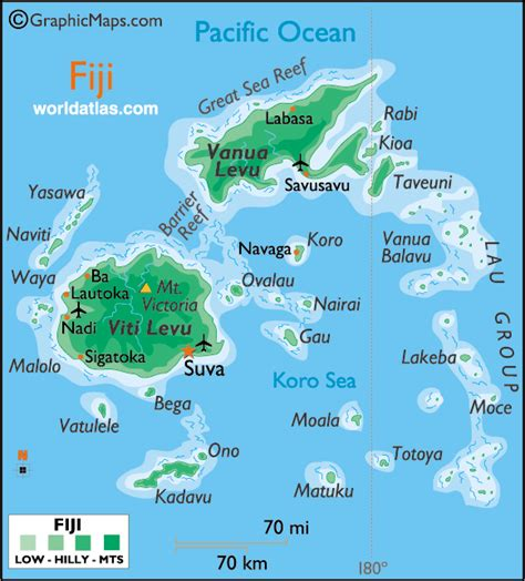 map of fiji information about fifi island tropical island getways