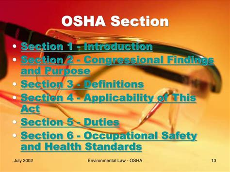 osha section 5 a 1 ppt occupational safety and health act of 1970
