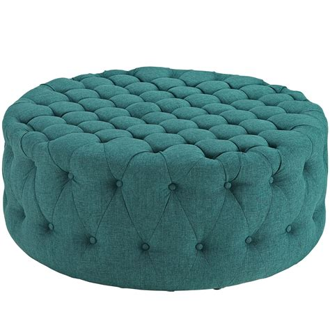 large round tufted modway amour large round upholstered tufted fabric ottoman