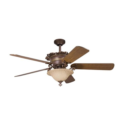 Kichler Lighting 300006cz 7 Light 54 In Wilton Ceiling Fan Kichler Ceiling Fans With Lights