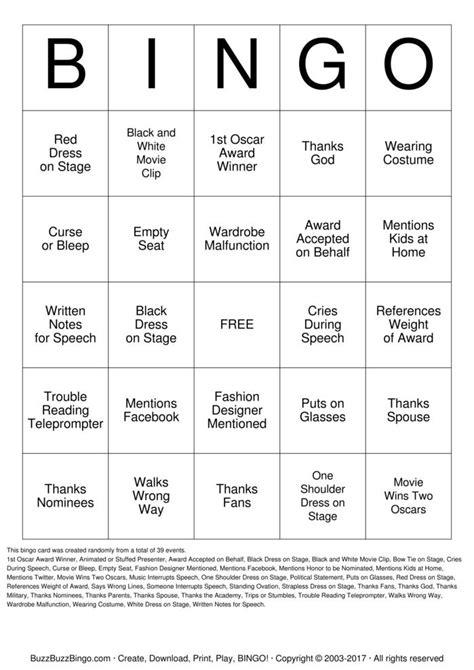 printable bingo instructions oscars bingo cards to download print and customize