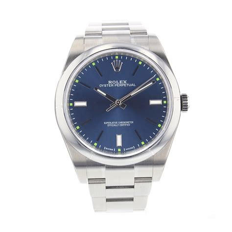 new rolex oyster perpetual steel blue automatic 39mm