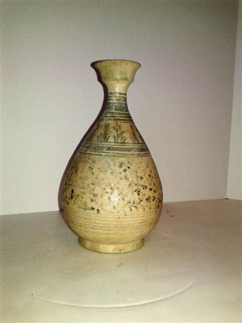 Small Decorative Vases by Small Thai Vase With Decorative Glaze For Sale At 1stdibs