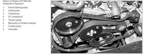 i need a belt diagram of a 2003 c230 kompressor