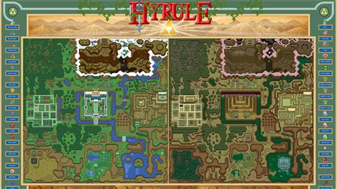 legend of zelda map labeled hyrule from the legend of zelda a link to the past