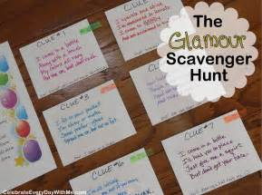 Backyard Birthday Party Ideas Sweet 16 The Quot Glamour Party Quot Scavenger Hunt Celebrate Every Day