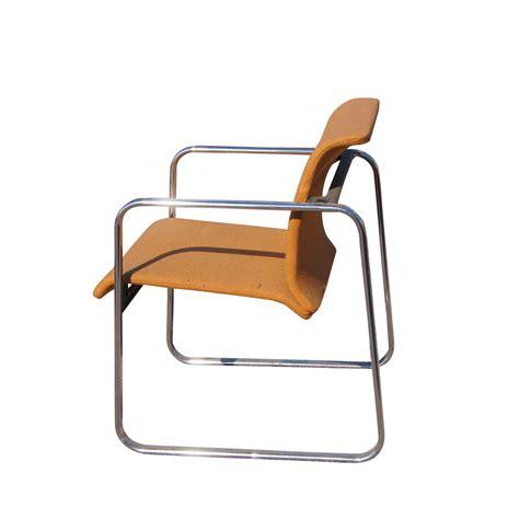 herman miller armchair herman miller protzman tubular chrome low back armchair ebay