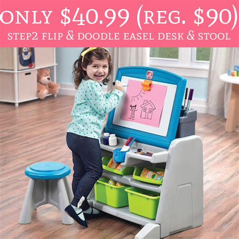 step2 flip and doodle easel desk only 40 99 regular 90 step2 flip doodle easel desk