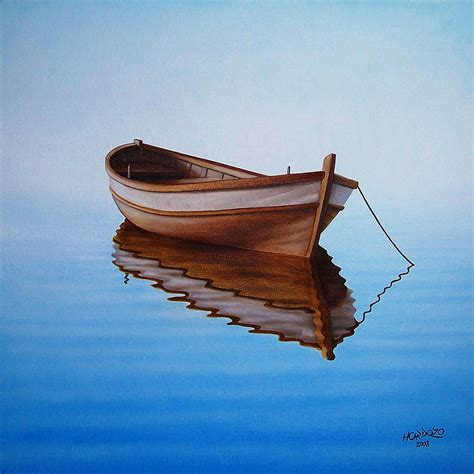 fishing boat art work row boat painting www pixshark images galleries