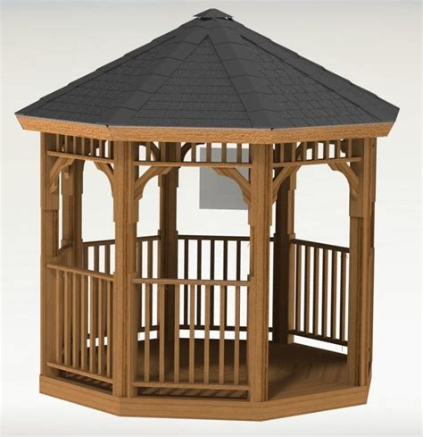 Octagon Gazebo Plans octagon gazebo building plans ebay